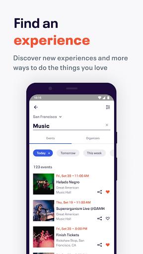 Eventbrite - Discover popular events & nearby fun Apkfinish screenshots 2