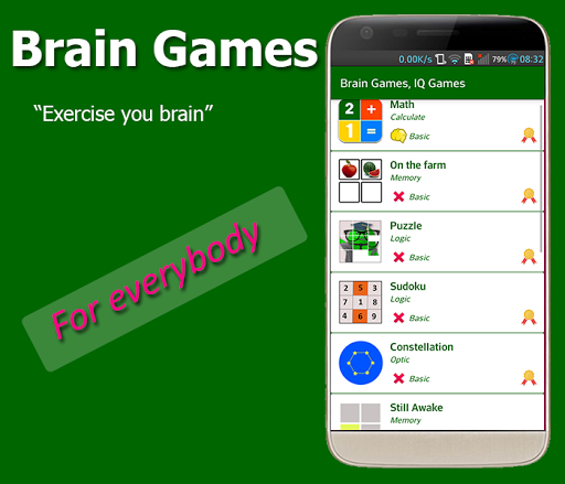 Brain Exercise Games - IQ test 1.3.5 Screenshots 3
