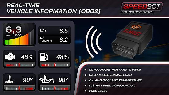 Speedbot. Free GPS/OBD2 Speedometer screenshots 7