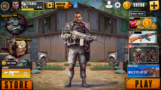 Real Commando Shooting FPS Game: Sniper Shooting  screenshots 14