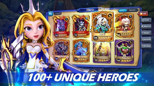 Runelords Arena: Tactical Hero Combat IDLE RPG Apk Mod + OBB/Data for Android. 2
