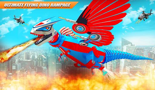 Flying Dino Transform Robot: Dinosaur Robot Games screenshots 10