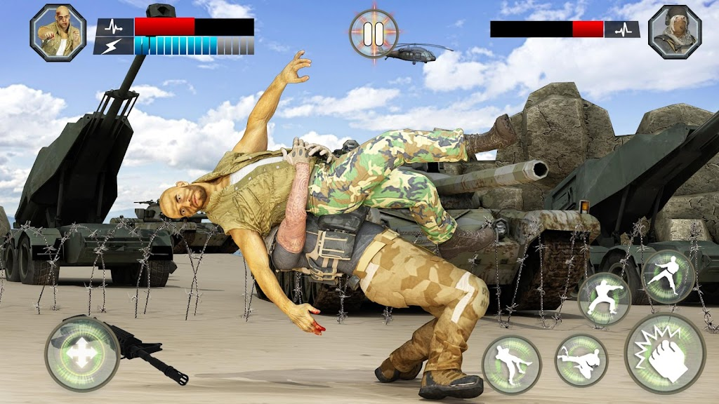 US Army Fighting Games: Kung Fu Karate Battlefield  poster 1