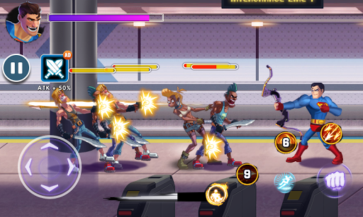 Superhero Captain X vs Kungfu Lee apkpoly screenshots 7