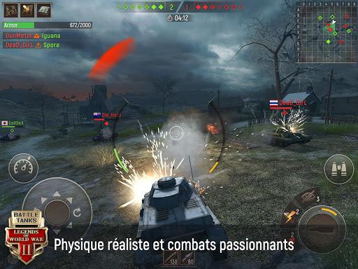 Télécharger Battle Tanks: Jeux de Tank Online APK MOD (Astuce) screenshots 1