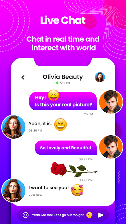 Sweet Date - Random Chat, Meet-Me Live Chat Tickoo  poster 16