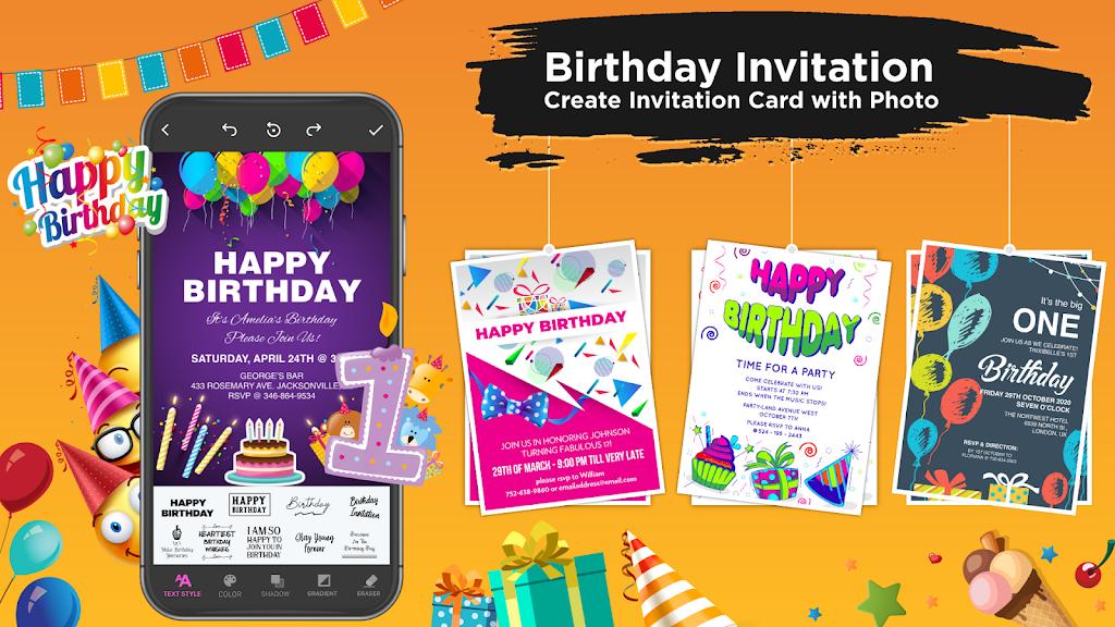 Invitation Maker Free - Birthday & Wedding Card  poster 2