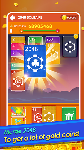 2048 Cards Casual - 2048 Solitaire Games modiapk screenshots 1