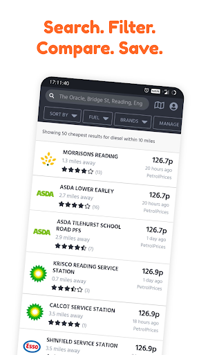 PetrolPrices - Free UK Petrol Station Comparison 2.3.0 Screenshots 1