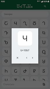 UniTable – Unicode Character Map 2