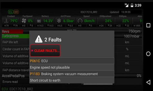 FAPlite Citroen/Peugeot OBD2 1.61 Screenshots 1