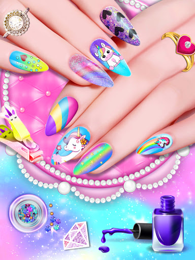 Manicure Nail Salon- Unicorn Fashion Game for Girl apkdebit screenshots 11