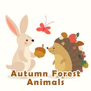 Cute Wallpaper Autumn Forest Animals Theme