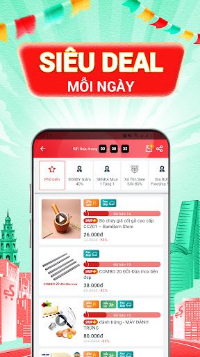 Sendo: Chu1ee3 Viu1ec7t 9.9 - Mu00f9a Sale Tiu1ebft Kiu1ec7m android2mod screenshots 3