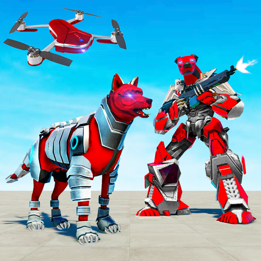 Dog Robot Transform: Real Drone Robot War APK