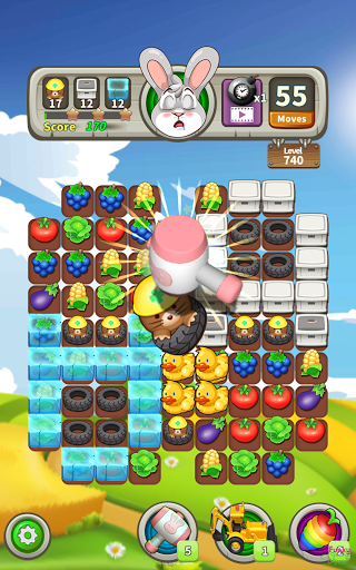 Farm Raid : Cartoon Match 3 Puzzle  screenshots 9