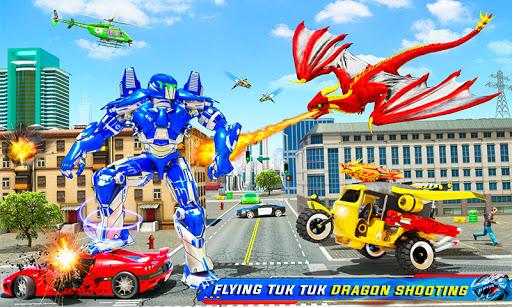 Tuk Tuk Rickshaw Dragon Robot Transform Robot Game  Screenshots 1