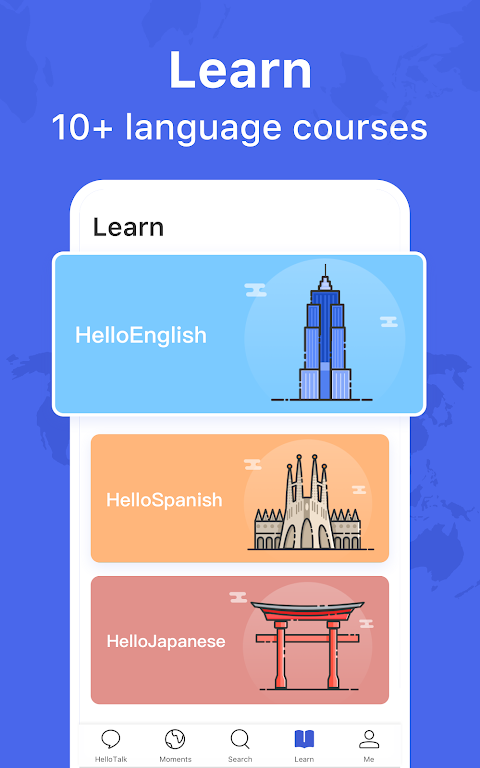 HelloTalk - Chat, Speak & Learn Languages for Free poster 9