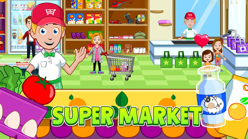 My Town: Stores - Doll house & Dress up Girls Game apktram screenshots 4