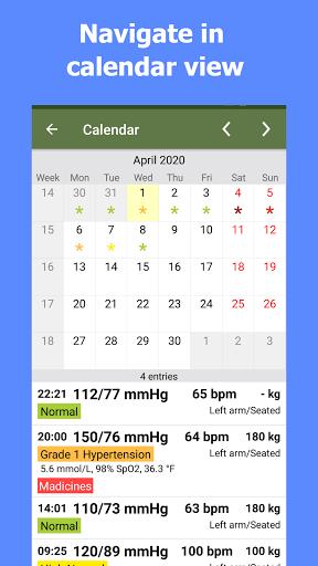 Blood Pressure Tracker android2mod screenshots 1