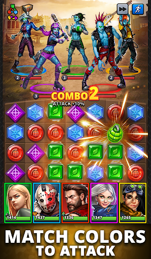 Puzzle Combat: Match-3 RPG android2mod screenshots 19