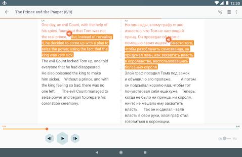 Beelinguapp: Учите языки по аудиокнигам Screenshot