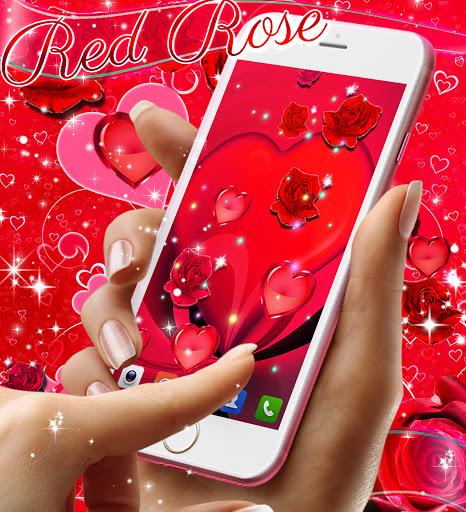 Red rose live wallpaper apktram screenshots 7