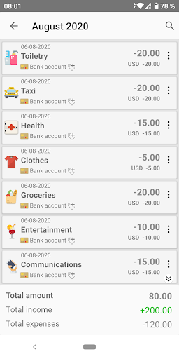Money Manager - Expense Tracker, Personal Finance screen 1