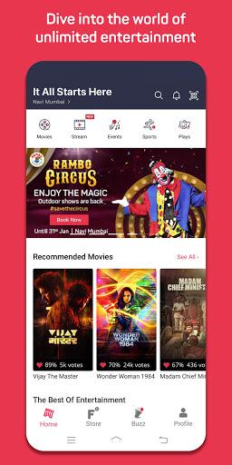 BookMyShow - Movie Tickets & Live Events screenshots 1
