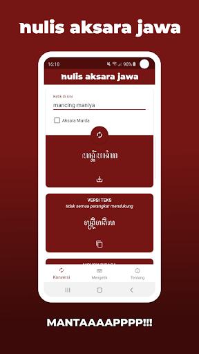 Aksara Jawa - Nulis Aksara Jawa | Ketik & Konversi 4.0.9 Screenshots 6