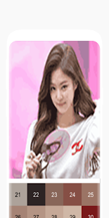Kpop Pixel Art free Color by Number