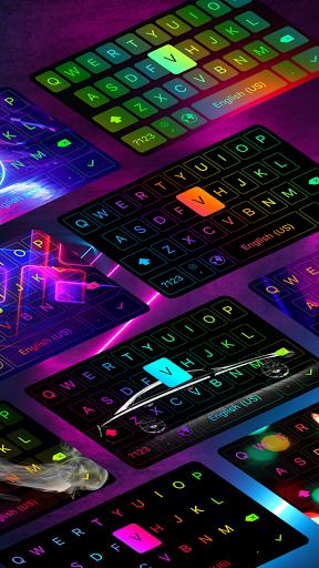 LED Keyboard - RGB Lighting Keyboard, Emojis, Font  Screenshots 2