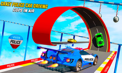 Police Car Racing Stunts 3D : Mega Ramp Car Games 3.8 screenshots 1