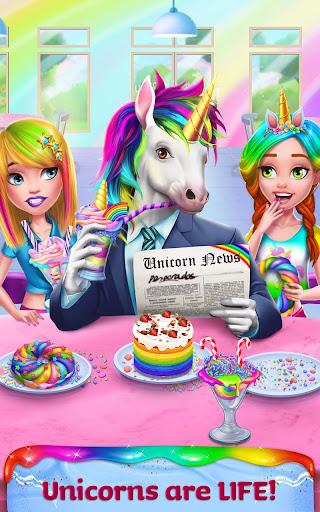 Unicorn Food - Rainbow Glitter Food & Fashion apkpoly screenshots 5