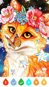 Galaxy Coloring Book Offline, Free Paint by Number Apk Download 3