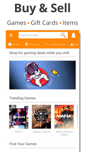 Gameflip: Buy & Sell Games, Game Items, Gift Cards 2.7 Screenshots 1