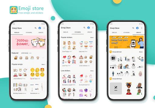 Emoji store(Android emoji, GIF, WhatsApp stickers)  screenshots 1