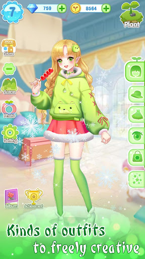 ud83dudc57ud83dudc52Garden & Dressup - Flower Princess Fairytale  Screenshots 15
