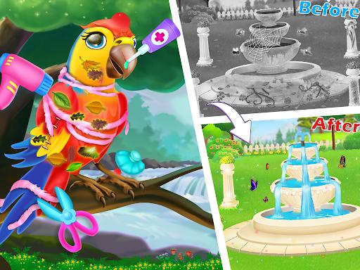Princess flower garden - Cleaning & decoration apk 1.0 screenshots 2