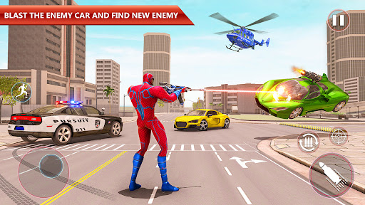 Police Robot Rope Hero Game 3d android2mod screenshots 8