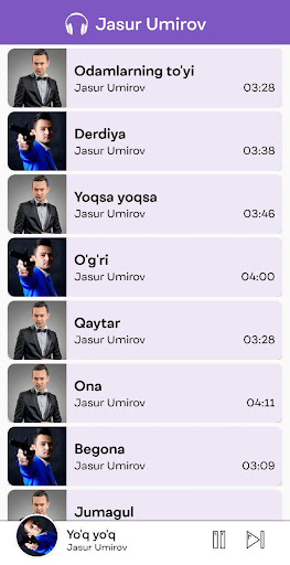 jasur umirov - qo'shiqlar to'plami screenshot 1