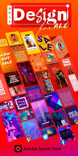Adobe Spark Post: Graphic Design & Story Templates screenshots 1
