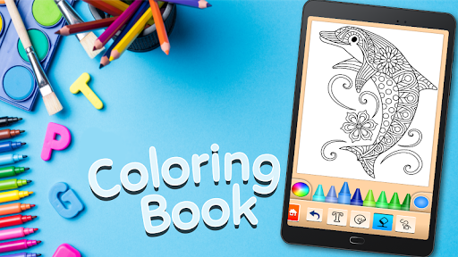 Dolphin and fish coloring book 16.3.2 screenshots 6