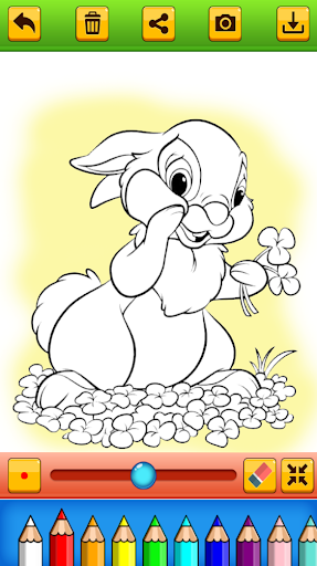 Cute Rabbit Coloring Book screenshots 6