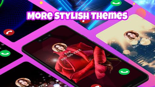Call Screen Themes, Color Call Flash - Blingcall android2mod screenshots 1