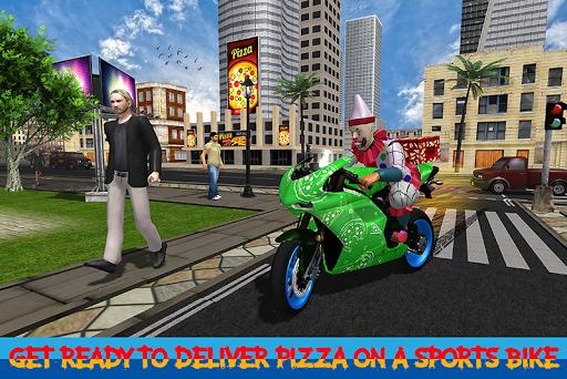 Scary Clown Boy Pizza Bike Delivery apkdebit screenshots 4