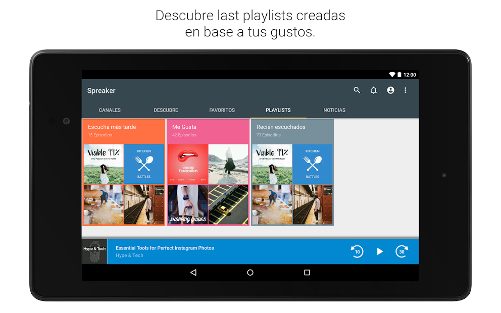 Imágen 14 de Spreaker Podcast Player - Escucha podcasts gratis para android