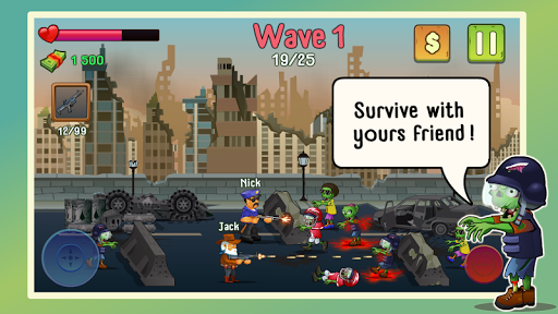 Two guys & Zombies (bluetooth game)  screenshots 1