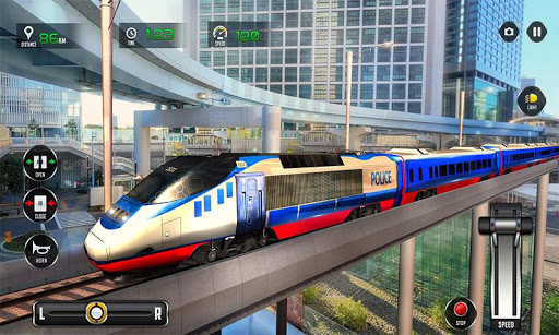 Police Train Shooter Gunship Attack : Train Games  Screenshots 2