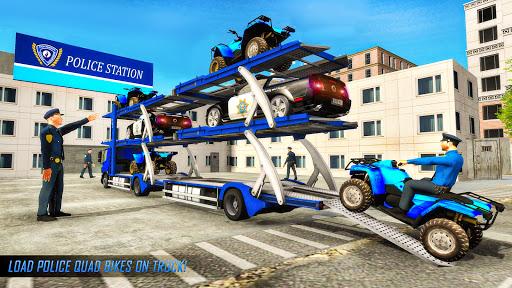 US Police ATV Quad Bike Plane Transport Game 1.4 Screenshots 17